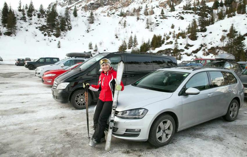 Parking VIP dans la station de ski